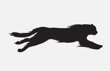 panther attack motion silhouette
