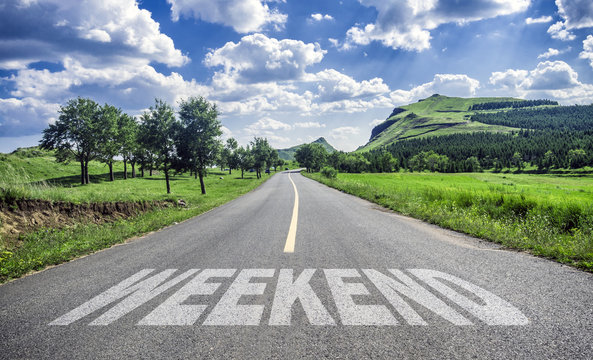 weekend concept on road