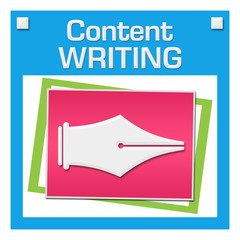 Content Writing Colorful Squares Inside