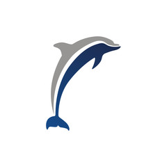 dolphin logo sign emblem isolated