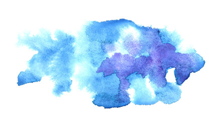 Blue water-colour stains