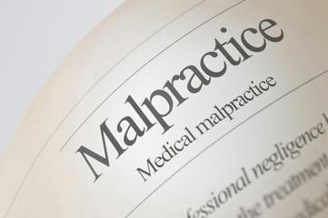 Medical Malpractice (Newspaper Headline)
