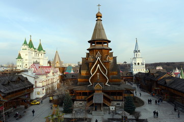 The Church of St. Nicholas in Izmailovo Kremlin.