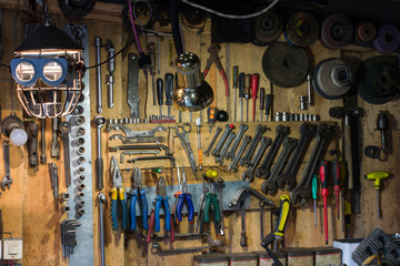 Sets of tools for repair in the garage
