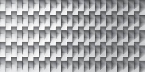 Volume realistic vector texture, gray cubes, steps geometric pattern, design wallpaper