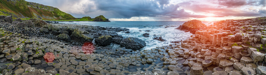 Fotobehang Noord Europa The Giant's Causeway in the morning.