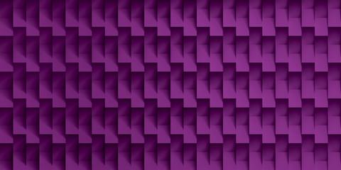 Volume realistic vector texture, purple cubes, steps geometric pattern, design wallpaper