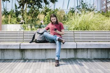 Solitary man in Williamsburg, Brooklyn, NYC