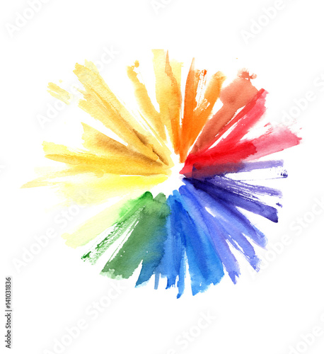 Watercolor Color Wheel Heart Frame Greeting Card With Copyspace For Your Design Stock Photo And Royalty Free Images On Fotolia