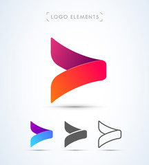 Vector abstract arrow logo design. Application icon template