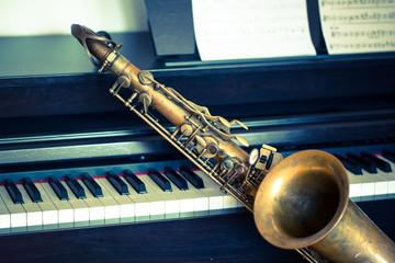 Saxophone am Klavier