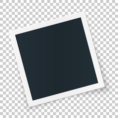 Square photo place concept, single isolated object on transparent background.