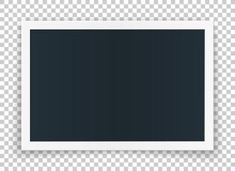 Horizontal photo frame concept, isolated on transparent background.