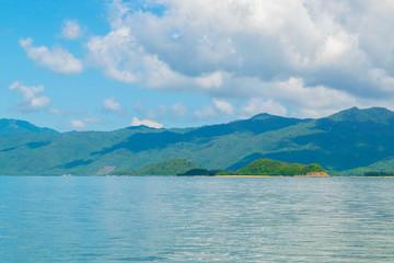 Sea shore at a paradise island -the South China sea - Vietnam Nha Trang bay