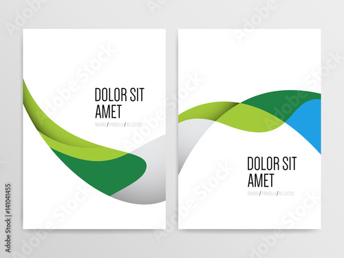 abstract minimal brochure flyer poster annual report cover design