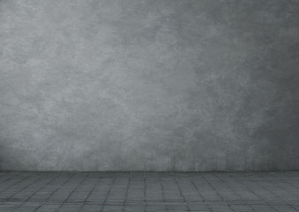 Fototapete - Empty grunge room or building exterior background with copy space