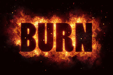 burn fire flame text explosion explode