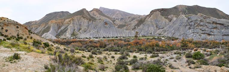 Fototapete - Desierto de Tabernas, Panorama