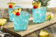 Refreshing Blue Hawaii Cocktail Punch