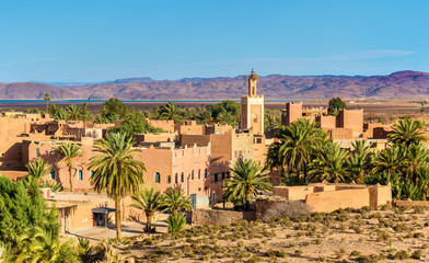 Buildings in Ouarzazate, a city in south-central Morocco