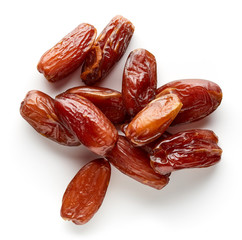 Heap of pitted dates from above
