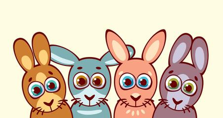 Rabbits. Animal family.