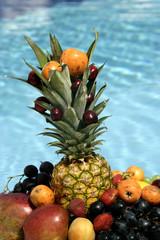 close up shot of a variety of fruits