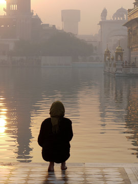 Tourist at Golden Temple, Amritsar