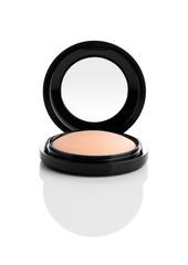 Cosmetic Makeup Powder in Black Round Plastic Case