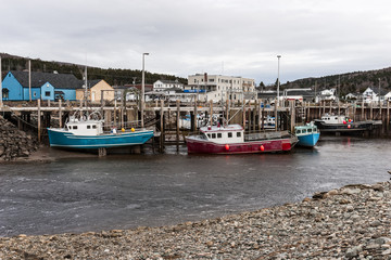 Fishing boats at low tide, Bay of Fundy