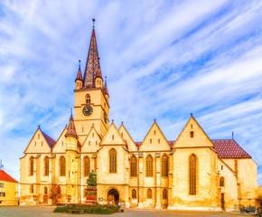 Wall Mural - The Lutheran Cathedral, Sibiu, Transylvania, Romania