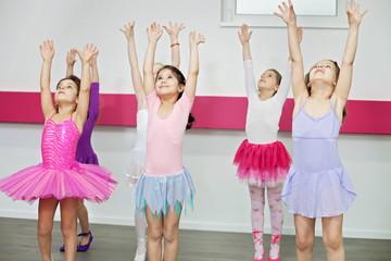 Little girls in a dance class