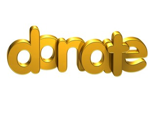 3D Word Donate over white background.