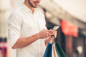 Man doing shopping