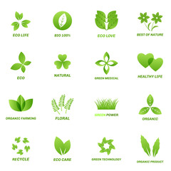 Ecology icon set on white background