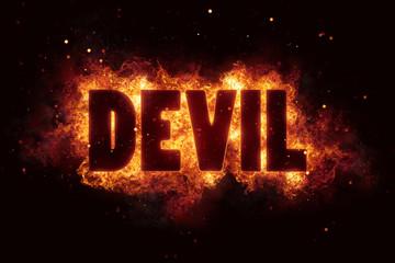 devil Fire Satanic sign gothic style evil esoteric