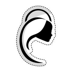 cute mary virgin icon vector illustration design