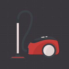 Vacuum cleaner color flat icon for web and mobile design