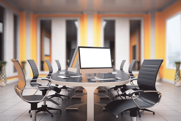Conference room with pc