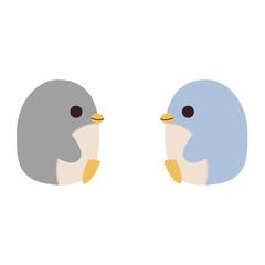 横向きに座ったペンギン
