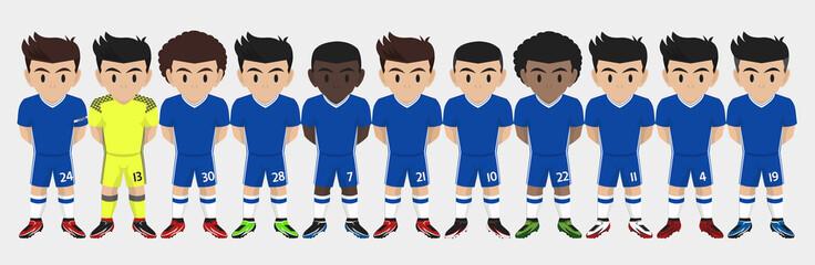 Vector Character of Football / Soccer Team
