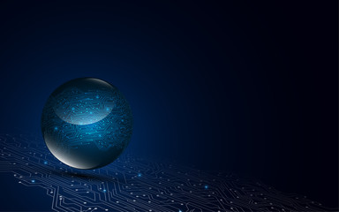 digital circuit globe communication technology networking concept background
