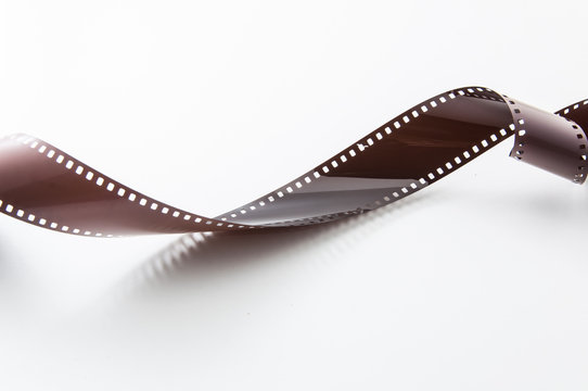 Retro and vintage film strip roll