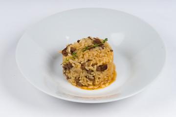 hot dish on white background