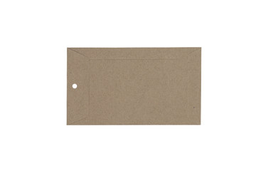 brown tag paper isolated on white background - clipping paths