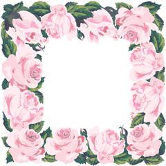 Vintage roses frame