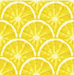 Seamless pattern of lemon slice. Vector citrus