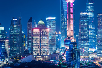 Wall Murals Shanghai urban skyline and modern buildings,cityscape of China.