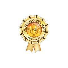 Impiegato del mese - Premio / etichetta / Medaglia ai benemeriti del lavoro, per le imprese (premio di lavoro) - colori di stampa