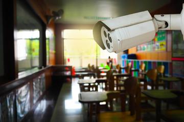 CCTV monitoring, security cameras in a school
